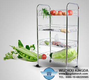 Multifunction metal kitchen wire shelf