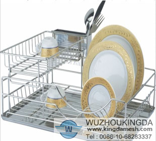 Metal kitchen dish rack