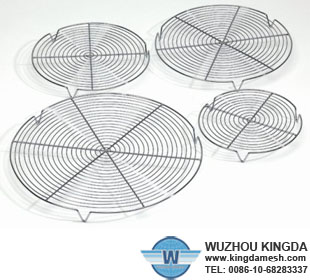 Nonstick round cooling rack