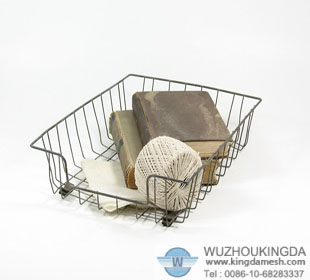 Wire file tray basket