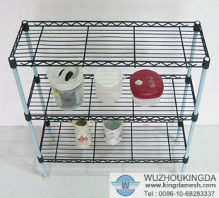 Decorative wire shelving
