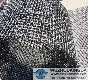galvanized flat top crimp mesh.