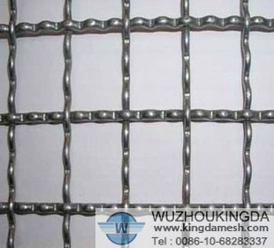 White Steel crimped woven mesh